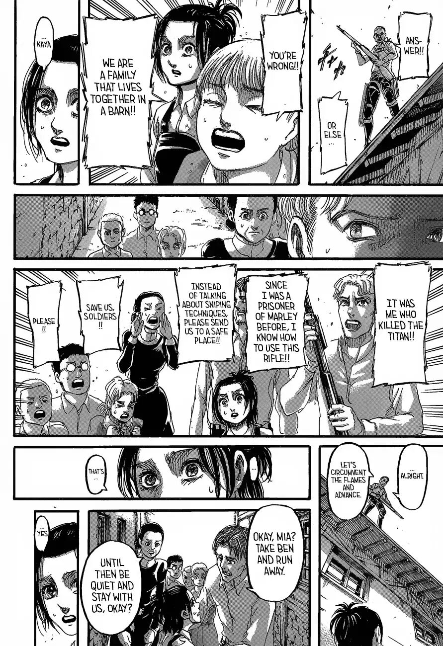 Attack on Titan Chapter 124: Melting Away